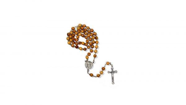 chapelet saint frère André bois d'olivier / Saint Brother André rosary olive wood