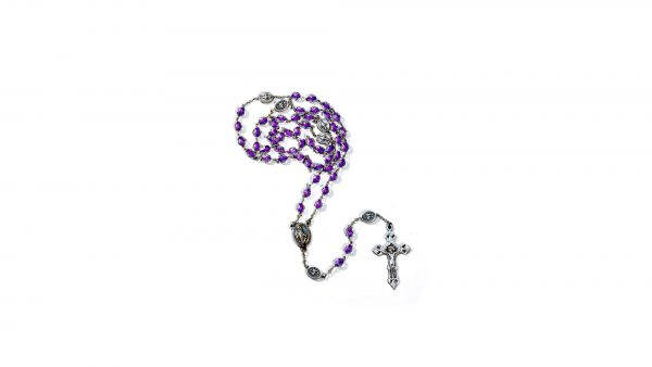 Chapelet fuschia Miraculeuse / Miraculous medal rosary-