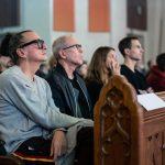 Denis Gagnon à Soeur Angèle à Si l'Oratoire m'était conté - lancement de la campagne grand public le 24 octobre 2019