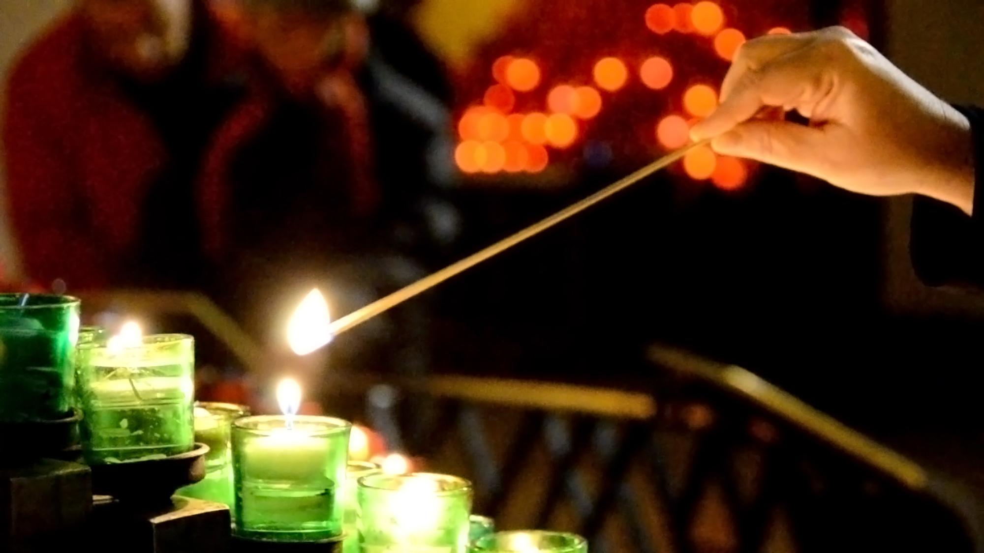 Allumer un lampion à l'Oratoire Saint-Joseph du mont-Royal