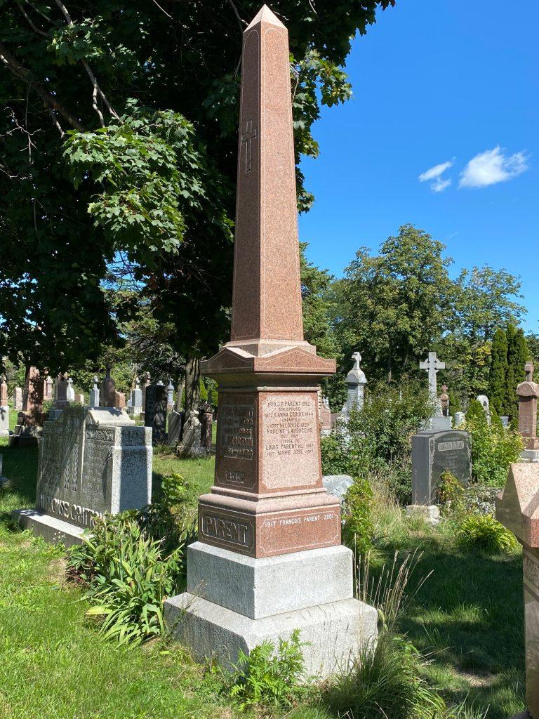 Monument funéraire de Louis Parent