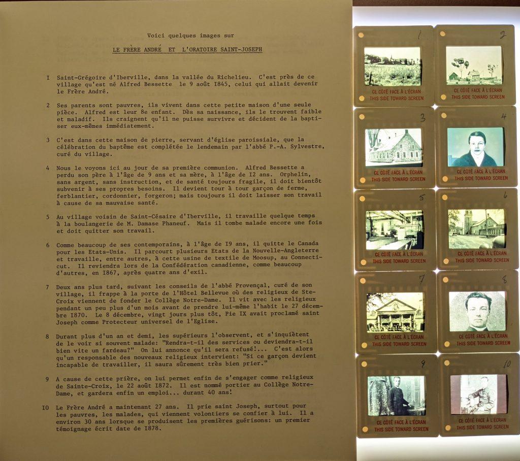 Page commentaires et diapositives