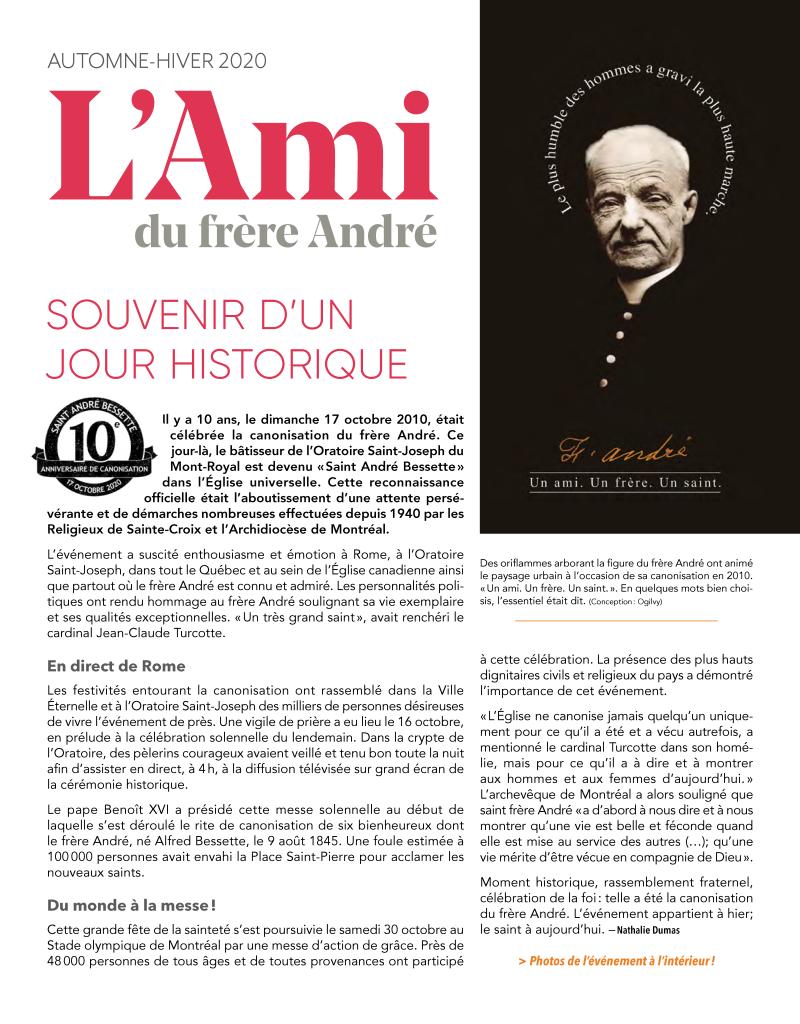 Bulletin LAMI Automne-Hiver 2020