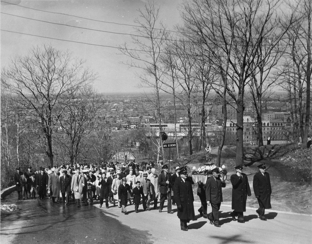 Pèlerinage des employés de la Commission de Transport de Montréal